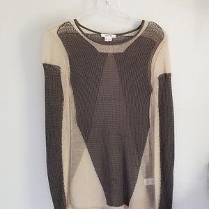 Helmut Lang gray tan air crewneck sweater Small